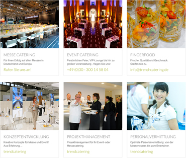 Referenzen Catering in Berlin - trendcatering der Hauptstadtcaterer